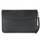 "Protective Crocodile Grain Pattern PU Leather Case Bag for MacBook Air 11.6"" Laptop Notebook - Black"