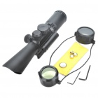 3.5-10X 40mm Red/Green Mil-Dot Reticle Rifle Scope with Gun Mount - Black (3 x AG13 + 1 x CR2032)