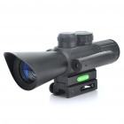 4X 30mm Red/Green Mil-Dot Reticle Rifle Scope with Gun Mount - Black (3 x AG13 + 1 x CR2032)