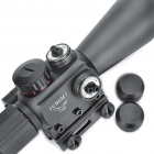 4X 30mm Rojo / Verde Mil-Dot retículo Rifle Scope con pistola de montaje - Negro (3 x AG13 + 1 x CR2032)