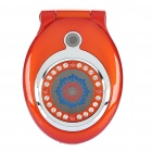 "Pocket Watch Style T99 Flip Cellphone w/ 1.8"" LCD Screen, GSM Quadband, Dual SIM and FM - Red"