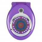 "Pocket Watch Stil T99 Flip Handy w / 1,8 ""LCD Display, GSM Quadband und Dual SIM - Purple"