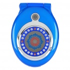 "Pocket Watch Style T99 Flip Cellphone w/ 1.8"" LCD Screen, GSM Quadband, Dual SIM and FM - Blue"