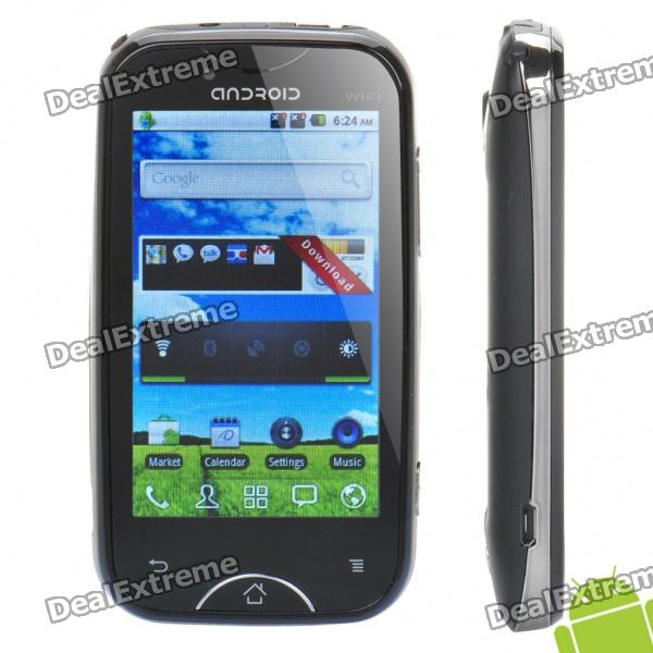 """A6000 Android 2.3 Smartphone w/ 3.2"""" Touch Screen, Dual SIM, TV and Wi-Fi - Black + Silver"""