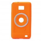 Digital Camera Style Protective Silicone Back Case for Samsung i9100 - Orange