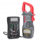 "DT-9250A 1.8"" LCD Digital Multimeters Set - Red + Black (2-Piece Pack)"