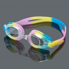 LIPHS Colorful Silicone Strap PC Lens Swimming Goggle Glasses w/ Carrying Box
