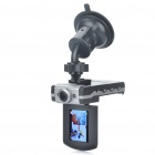 "720P HD 2.0"" TFT 3.0MP 1/4 CMOS Wide Angle Car DVR Camcorder w/ 2-LED IR Night Vision/HDMI/AV OUT/TF"