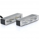 1.8W 3-LED White / Yellow Car Daytime Running Lamps (DC 12~24V / Pair)