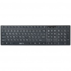 SUNSONNY SK-628 Ultra-Thin USB Wired 104-Key Keyboard w/ Silicone Cover - Black (130cm-Cable)