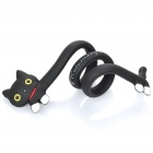 Flexible Cat Style Silicone Cord Cable Twister Organizer - Black