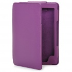 Stylish PU Leather Protective Carrying Case for Kindle 4 - Purple