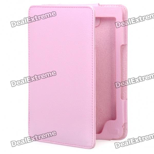 Stylish PU Leather Protective Carrying Case for Kindle 4 - Pink