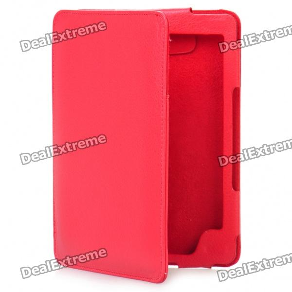 Stylish PU Leather Protective Carrying Case for Kindle 4 - Red
