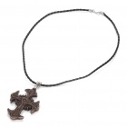 Cool Cross Style Ox Bone Pendant Necklace (49.5cm-Length)