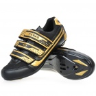 Stlyish Bike Cycling Carbon Fiber Practical Shoes - Golden + Black (EUR Size-38)