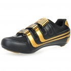 Stylish Bike Cycling Carbon Fiber Practical Shoes - Golden + Black (EUR Size-42)