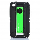 Outdoor Sports Schutzpanzer Silicone Case mit Karabiner-Clip für iPhone4/4S - Green + Black