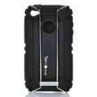 Outdoor Sports Schutzpanzer Silicone Case mit Karabiner-Clip für iPhone4/4S - Black