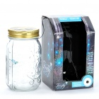 Sound/Touch Activated Firefly Toy with 1-LED Blue Light & Glass Storage Jar Bottle (3 x AAA)
