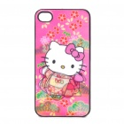 Protective zurück Fall mit 3D-Grafik für iPhone 4 - Hallo Kitty Pattern