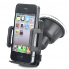 Car Swivel Suction Cup Mount Holder for GPS / Cell Phone / MP4 - Black