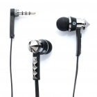 Designer's Stereo Earphone with Microphone for iPhone/iPad - Black (3.5mm Jack)