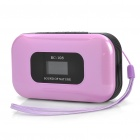 "Portable 1.0 ""LCD MP3 Player Speaker w / FM / Kalender / Voice Recorder / TF / 3,5 mm Klinke - Pink"