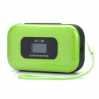 "Portable 1.0 ""LCD MP3 Player Speaker w / FM / Kalender / Voice Recorder / TF / 3,5 mm Klinke - Green"