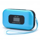 "Portable 1.0 ""LCD MP3 Player Speaker w / FM / Kalender / Voice Recorder / TF / 3,5 mm Klinke - Blue"