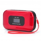 "Portable 1.0 ""LCD MP3 Player Speaker w / FM / Kalender / Voice Recorder / TF / 3,5 mm Klinke - Red"