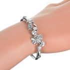 925 Silver Plated Strawberry Crystal Bracelet