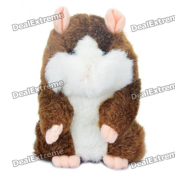 Cute Talking Mimicry Hamster Pet - Brown (3 x AAA) ysdx 811 video version mimicry pet talking hamster plush toy for kids grey light yellow pink