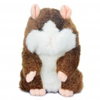 Cute Talking Mimicry Hamster Pet - Brown (3 x AAA)