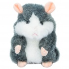 Cute Talking Mimicry Hamster Pet - Grey (3 x AAA)