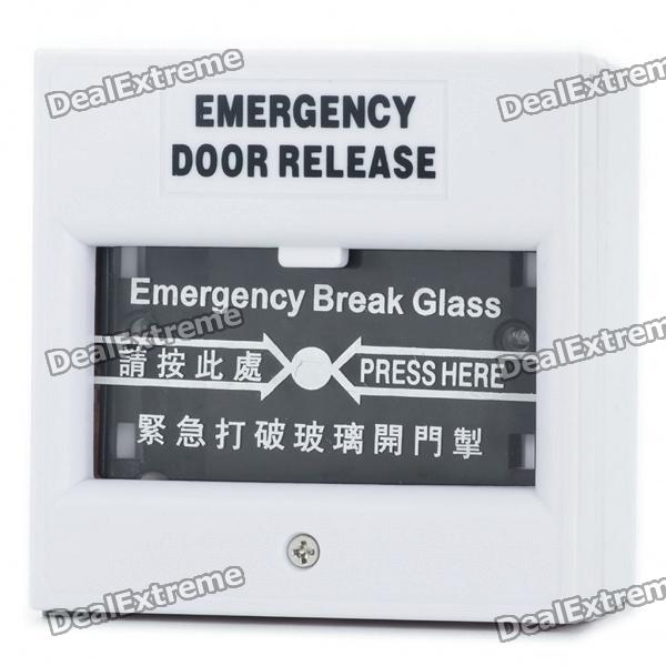 Emergency Door Release Glass Break Fire Alarm Button - White (AC 220V / DC 24V) new original mr je 70a 3ph ac 220v 3 8a 750w ac servo drive
