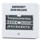 Emergency Door Release Glass Break Fire Alarm Button - White (AC 220V / DC 24V)