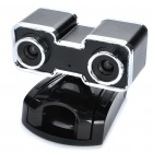 USB 2.0 Double CMOS 3D Webcam w/ 3D Glasses