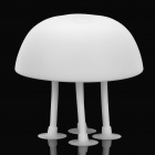 Cute Soft Rubber Jellyfish Style USB Powered White / Blue 2-Mode Light Desktop Lamp - White
