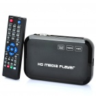 1080P HD Media Player mit VGA / YPbPr / HDMI / AV / USB / SD - Schwarz