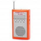 "1,5 ""LCD USB aufladbare MP3-Player FM-Radio Speaker w / TF Slot - Orange + Silber"