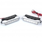 1W 12-LED White Light Car Daytime Running Lamps (Pair / DC 12V)