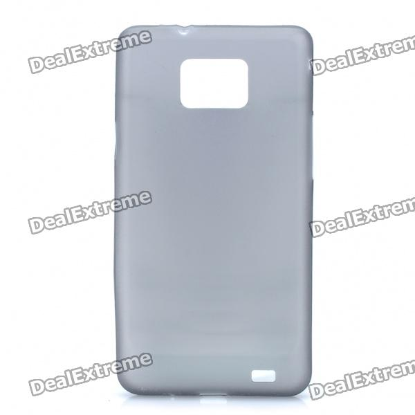 Super Slim Soft Protective Back Case Cover for Samsung i9100 - Grey