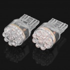 W3x16d 1.05W 12V White Light 9-LED Car Turning Signal Light Bulbs - Pair (DC 12V)