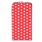 Protective Leather Cover Plastic Case for Samsung i9100 - Red + White