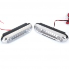 2.24W 28-LED White Light Car Daytime Running Lamps (Pair / DC 12V)