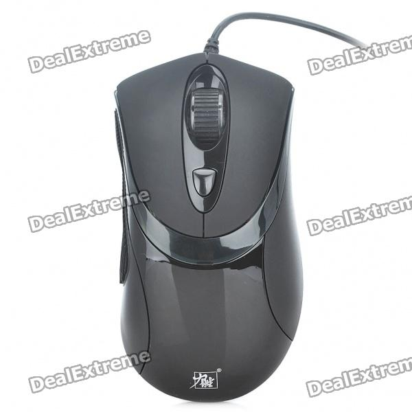 LiSheng L7-93A 600/1200/1800/2400DPI USB Wired Optical Mouse - Black (170cm-Cable) от DX.com INT