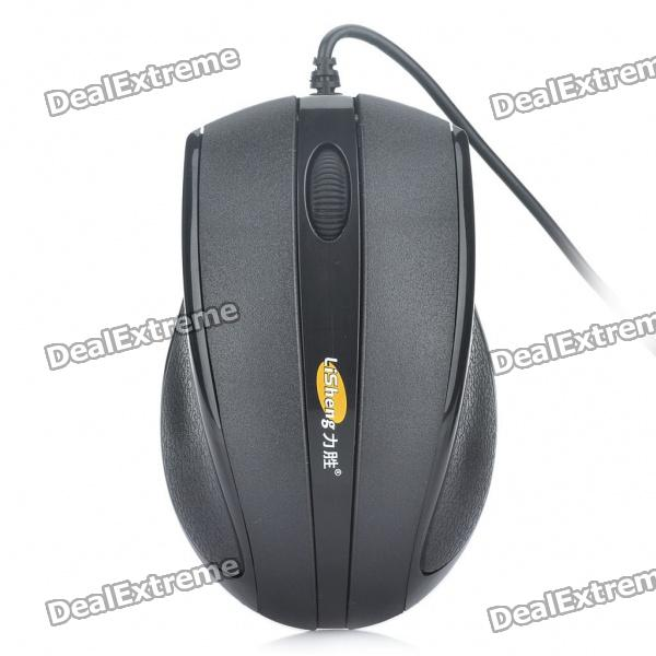 LiSheng DL-001 1000DPI USB Wired Optical Mouse - Black (160cm-Cable) от DX.com INT