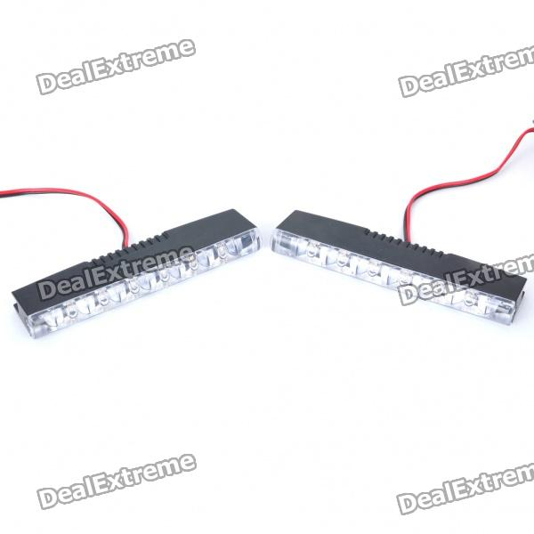 0.5W 6-LED White Light Car Daytime Running Lamps (Pair / DC 12V)