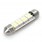 41mm 5050 0.3W 30-40LM 6000-6500K 4-SMD LED White Light Lamp